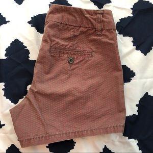 GAP Red Chevron Shorts Size 1